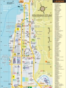 Kota Kinabalu City Map