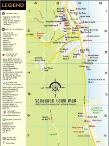 Sandakan City Map