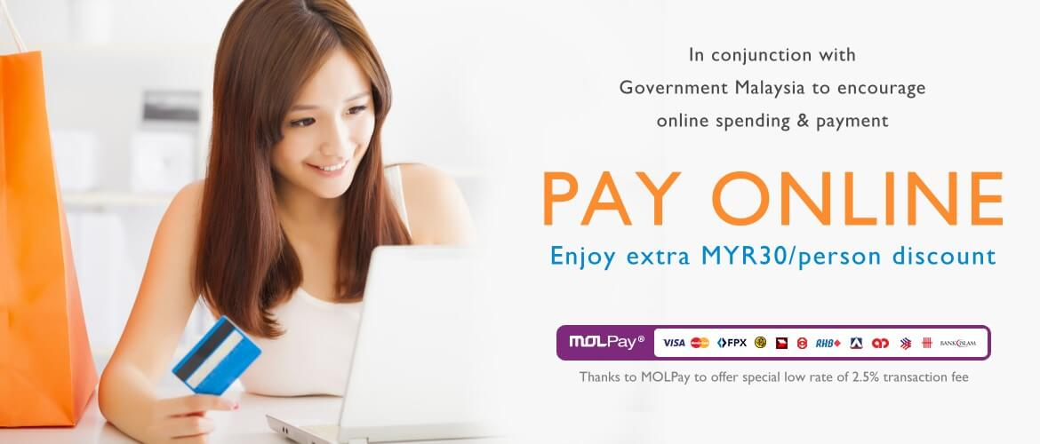 Pay Online to Enjoy Discount
