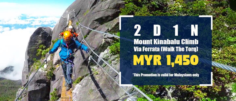 2D1N Mount Kinabalu Via Ferrata (Walk The Torq) - For Malaysian