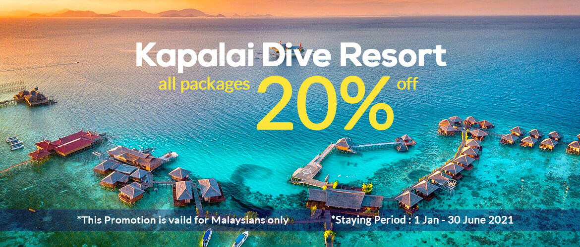 Kapalai Dive Resort 20% discount (promotion extended)