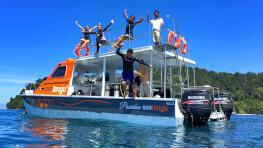 Fun Boat Snorkeling + Island Visit
