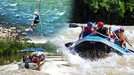 Kiulu Rafting + Zipline + River Cruise