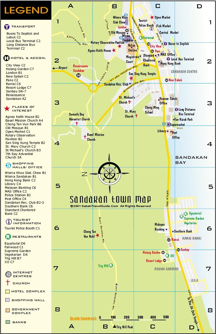 亚庇市区地图,山打根市区地图 - 沙巴订位网 - 沙巴社