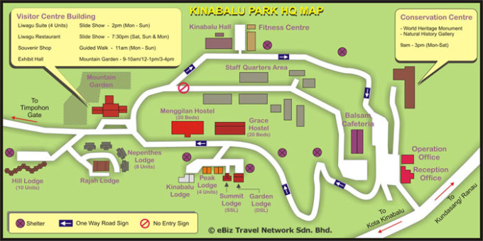 Map of Kinabalu Park