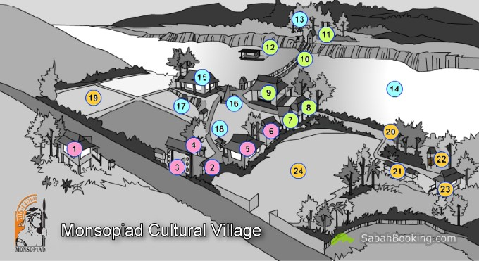 Monsopiad Cultural Village Map