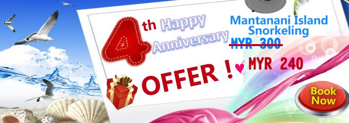 4th anniversary Mantanani Island Snorkeling Offer