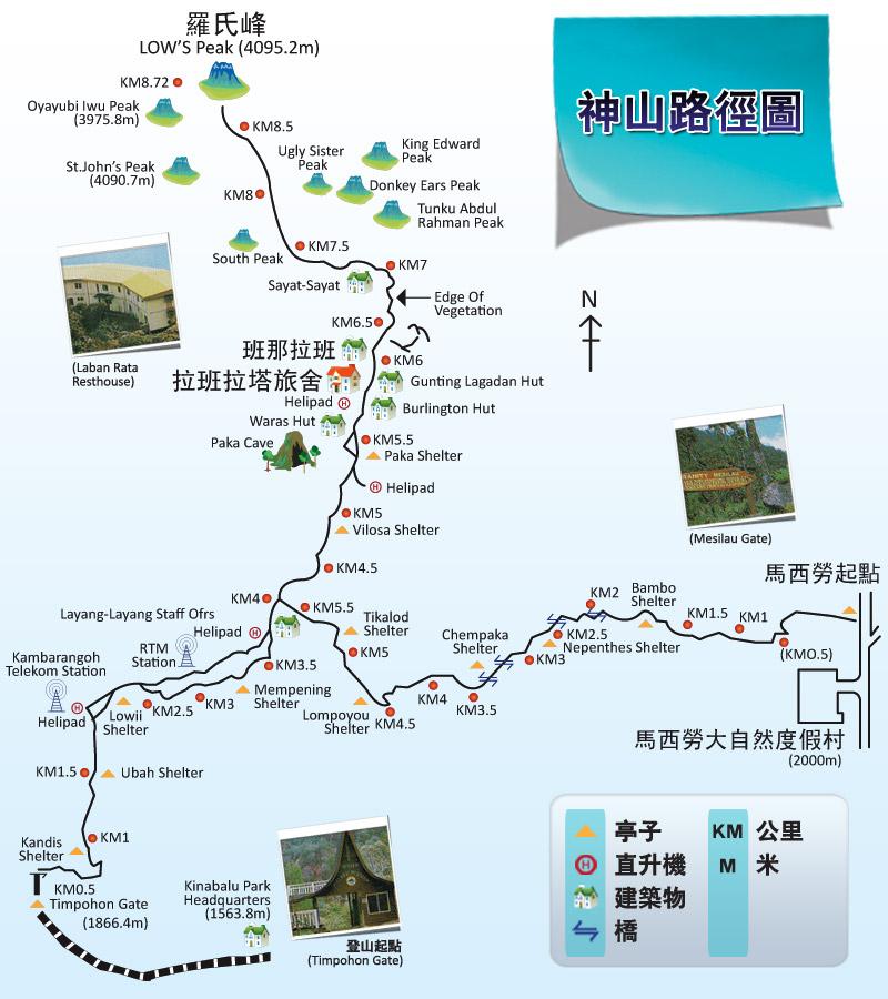 神山路徑圖